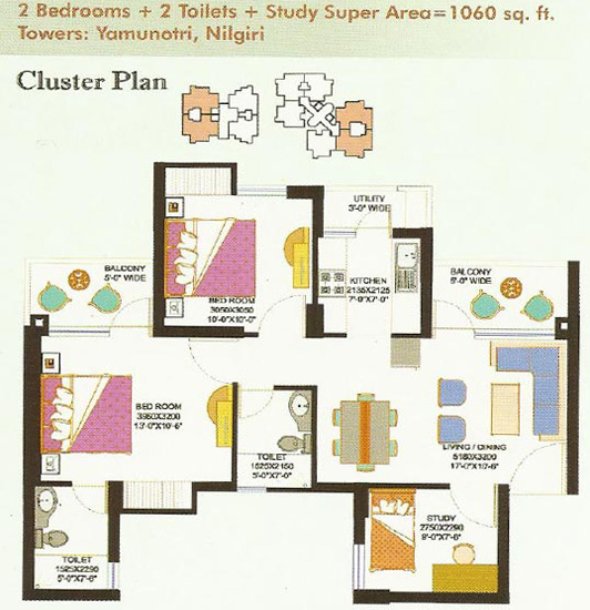 Eros Sampoornam Floor Plan